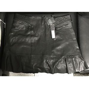 Marc by Marc Jacobs Black Leather Skirt NEW